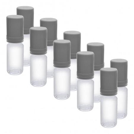 Flacons DIY Bouchon Gris Clair - 10ml x 10